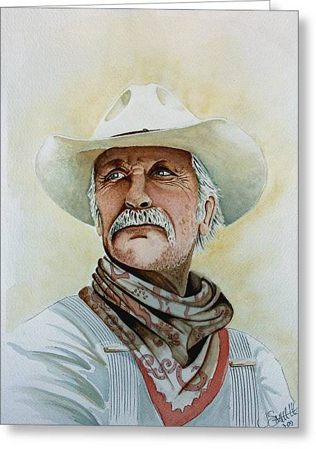 Robert Duvall As Augustus Mccrae In Lonesome Dove Greeting Card by Jimmy Smith