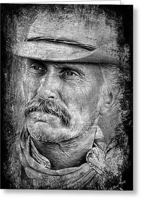 Robert Duvall As Gus Greeting Card by Andrew Read