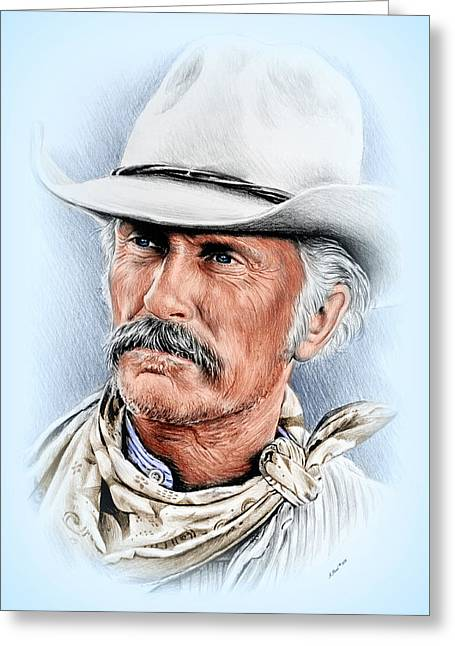 Robert Duvall As Gus Mccrae Greeting Card