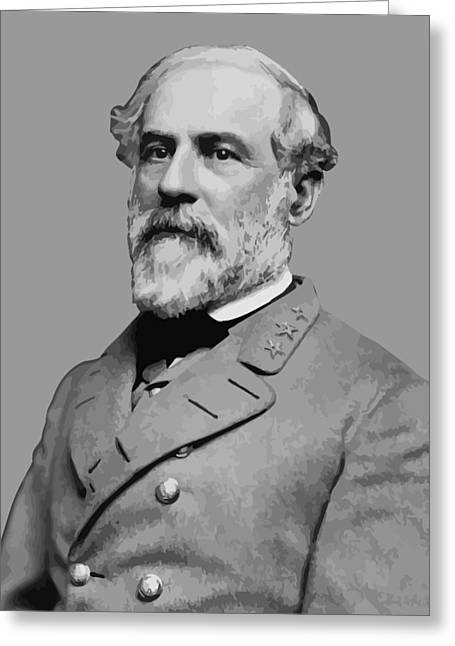Robert E Lee - Confederate General Greeting Card by War Is Hell Store