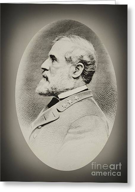 Robert E Lee - Csa Greeting Card by Paul W Faust -  Impressions of Light