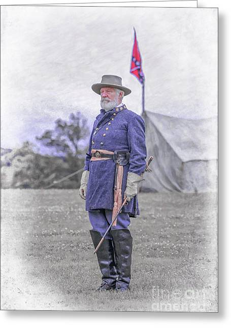 Robert E. Lee Greeting Card by Randy Steele