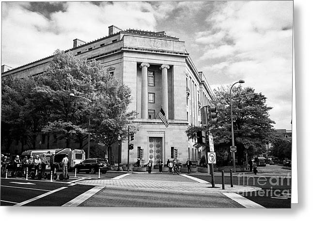 robert f kennedy department of justice building federal triangle Washington DC USA Greeting Card