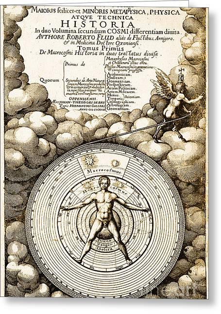 Robert Fludds Book On Metaphysics, 1617 Greeting Card