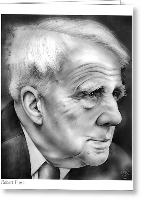 Robert Frost Greeting Card by Greg Joens