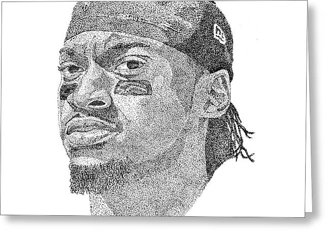 Robert Griffin IIi Greeting Card by Marcus Price