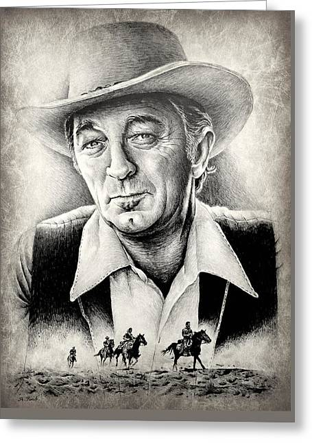 Robert Mitchum Greeting Card by Andrew Read