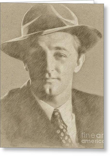 Robert Mitchum Hollywood Actor Greeting Card by Frank Falcon