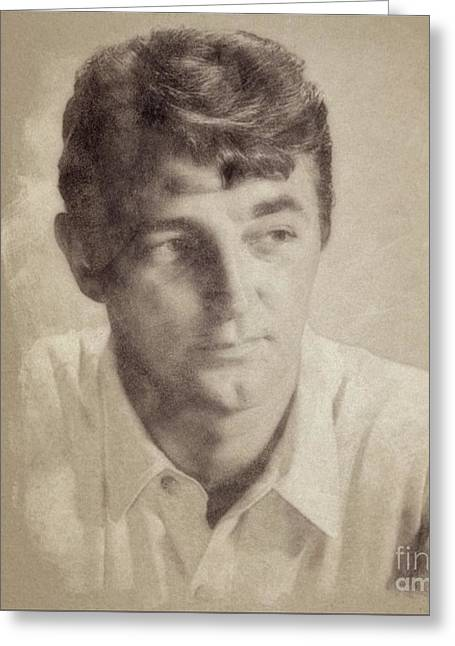 Robert Mitchum, Hollywood Legend By John Springfield Greeting Card by John Springfield