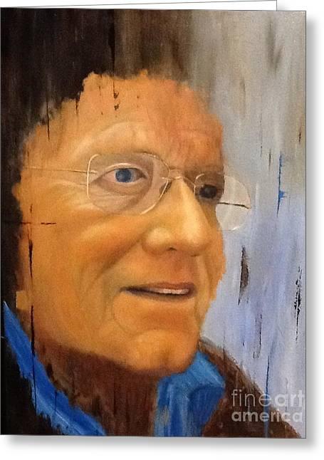Robert Monk Self Portrait Greeting Card