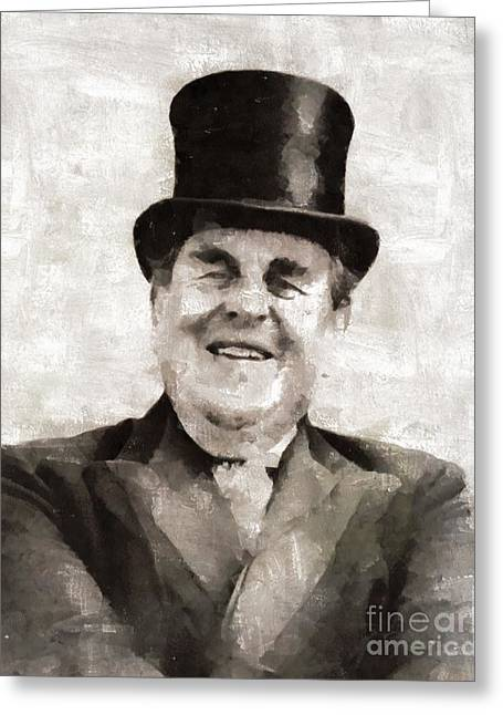 Robert Morley, Actor Greeting Card