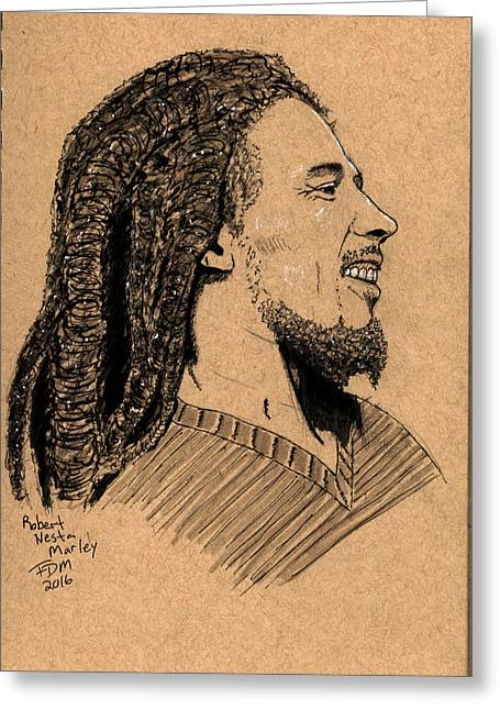 Robert Nesta Marley Greeting Card