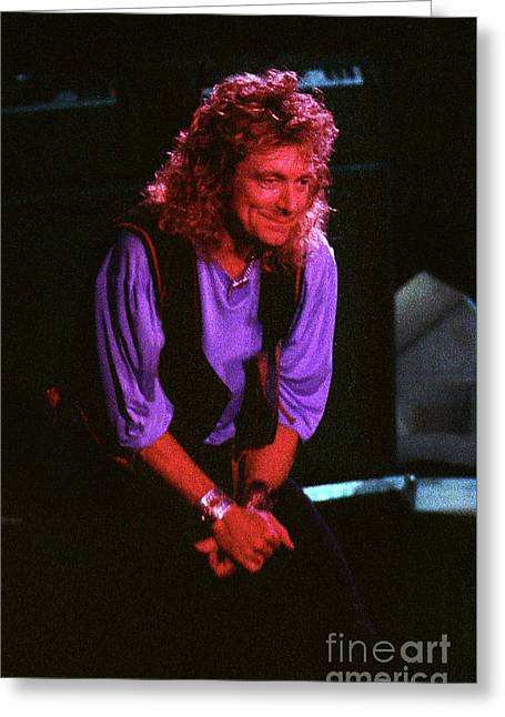 Robert Plant-88-3224 Greeting Card