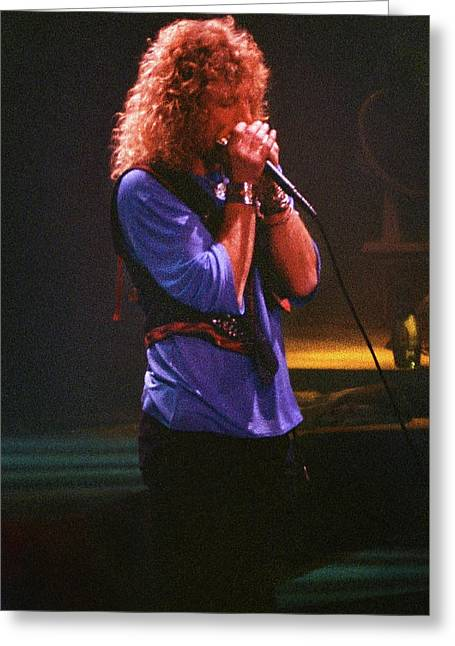 Robert Plant-88-harmonica-3191 Greeting Card