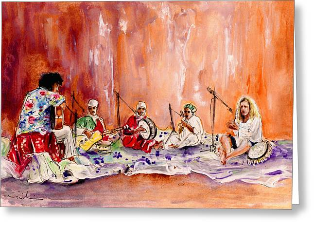 Robert Plant And Jimmy Page In Morocco Greeting Card