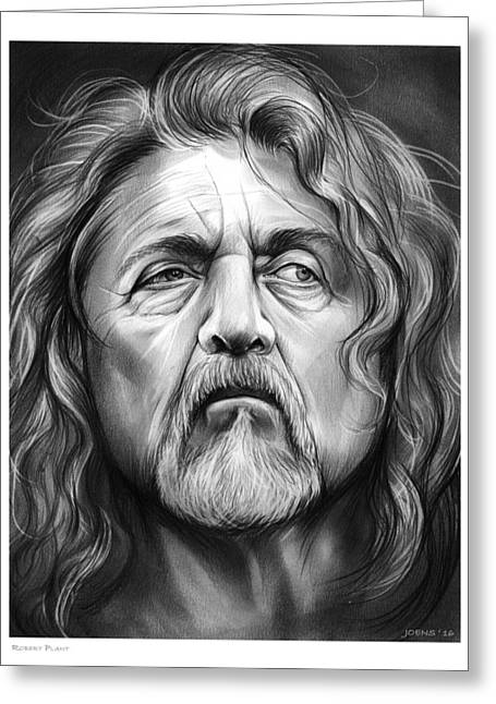 Robert Plant Greeting Card by Greg Joens