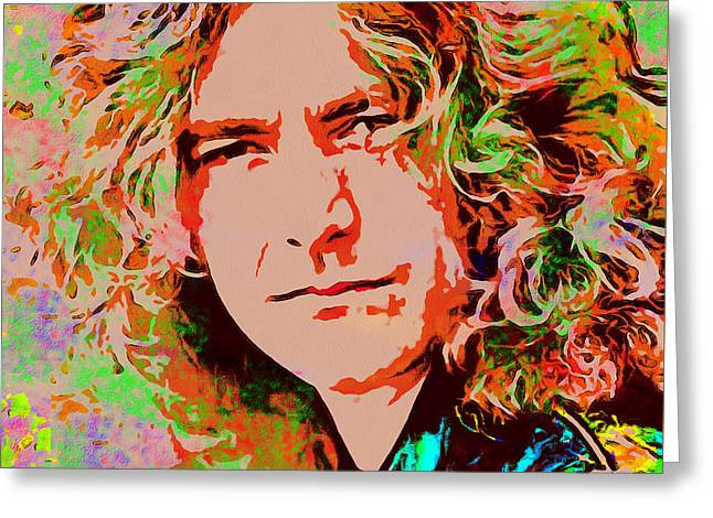 Robert Plant Greeting Card by Sergey Lukashin
