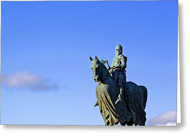 Greeting Card featuring the photograph Robert The Bruce King Of Scots  by Craig B