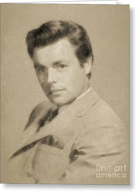 Robert Wagner, Vintage Actor By John Springfield Greeting Card by John Springfield