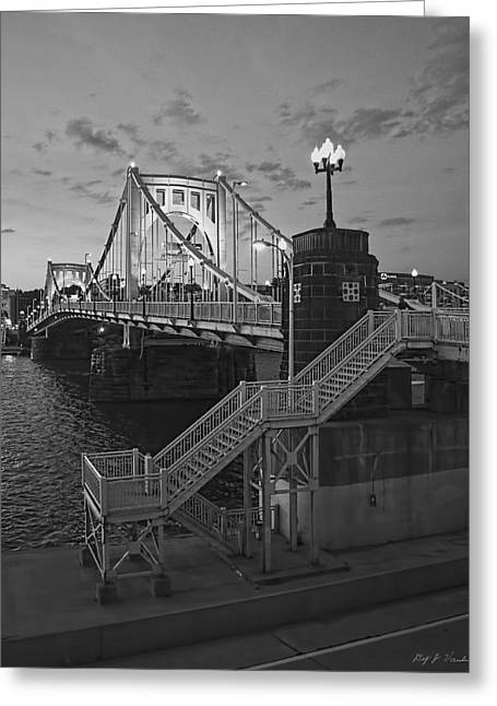 Roberto Clemente Bridge Greeting Card by Dirk VandenBerg
