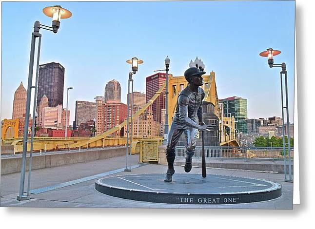 Roberto Clemente Statue 2017 Greeting Card by Frozen in Time Fine Art Photography