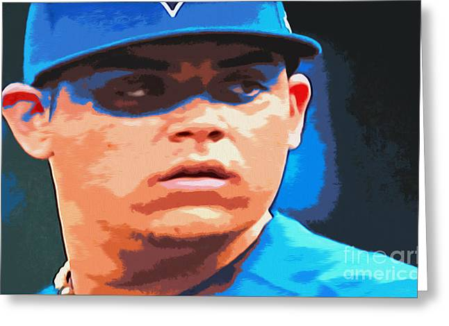 Roberto Osuna Greeting Card by Nina Silver