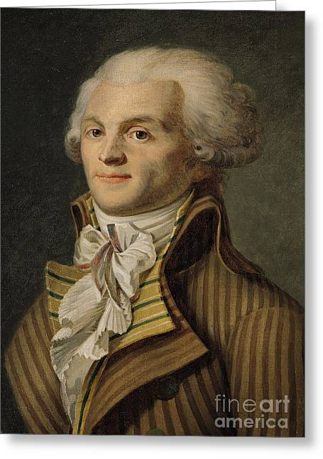Robespierre Greeting Card by French School