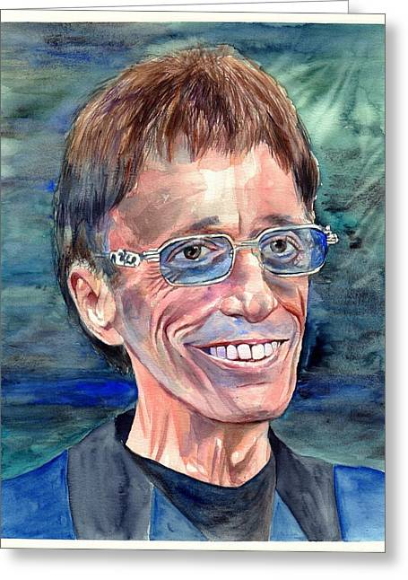 Robin Gibb Bee Gees Greeting Card