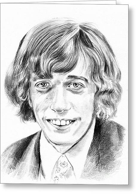 Robin Gibb Drawing Greeting Card