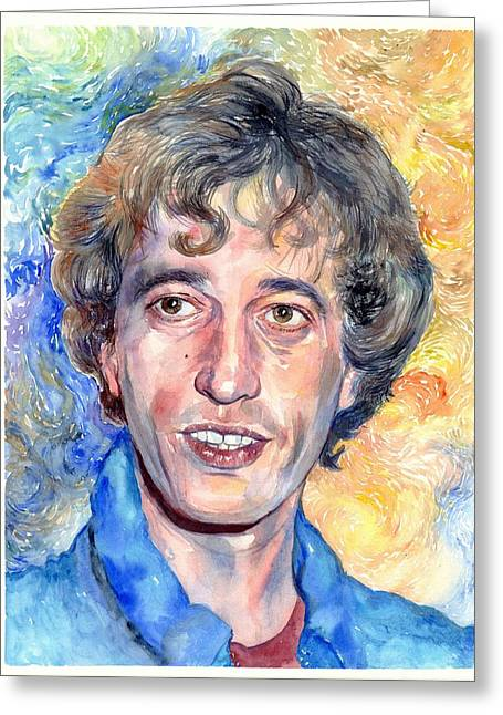 Robin Gibb Portrait Greeting Card