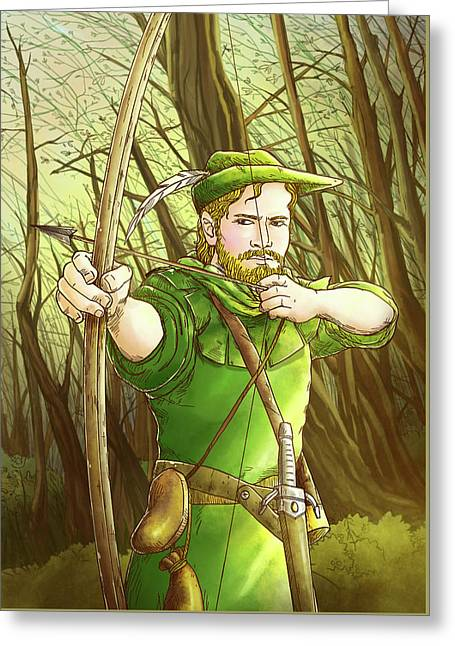 Robin  Hood In Sherwood Forest Greeting Card