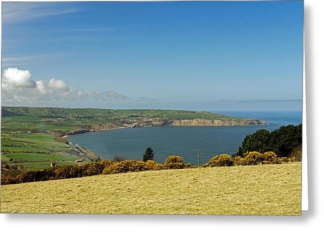 Robin Hood's Bay From Ravenscar Greeting Card