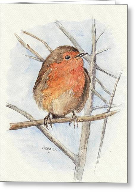 Robin Greeting Card by Morgan Fitzsimons