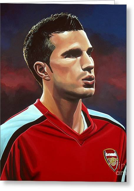 Robin Van Persie Greeting Card