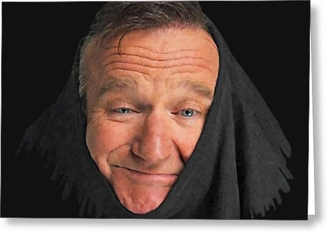 Robin Williams 2 Greeting Card by Stephen Shub