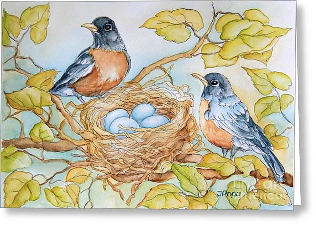Robins Nest Greeting Card