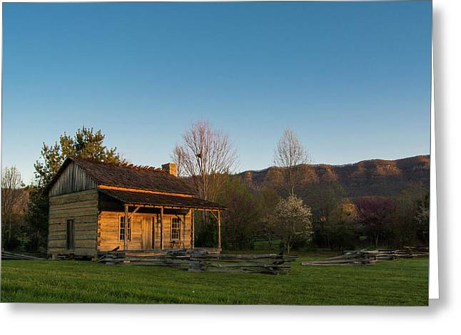 Robinson Cabin At Wilderness Road State Park Greeting Card