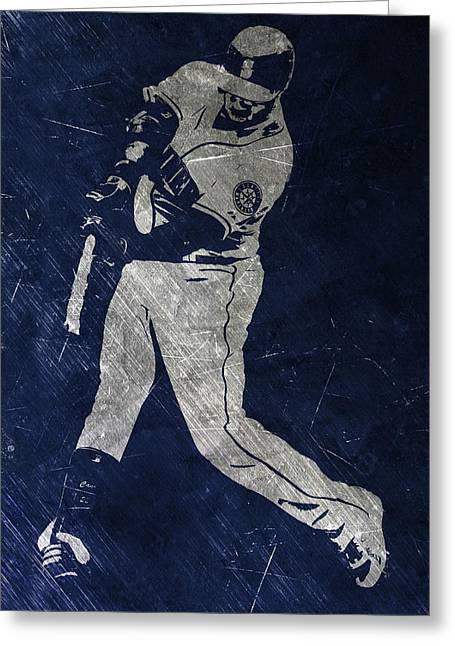 Robinson Cano Seattle Mariners Art Greeting Card by Joe Hamilton