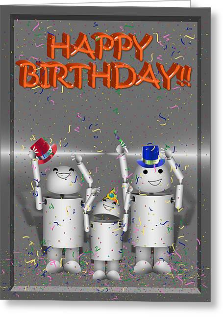 Robo-x9 Birthday Wishes Greeting Card