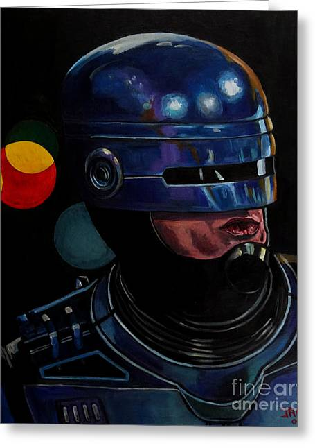 Robocop2 Greeting Card by Jose Mendez