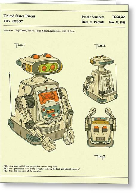 Robot 1988 Greeting Card