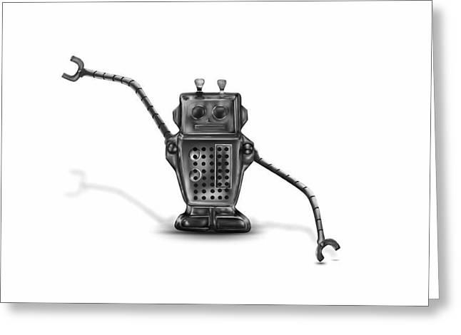 Robot Greeting Card by Cassandra Kassel