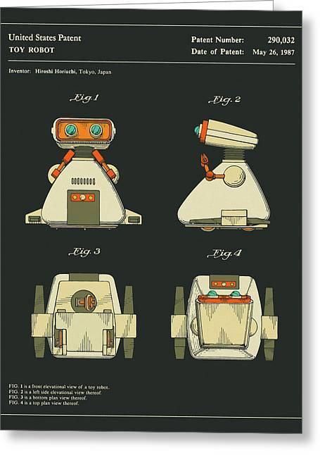 Robot Patent 1987 Greeting Card