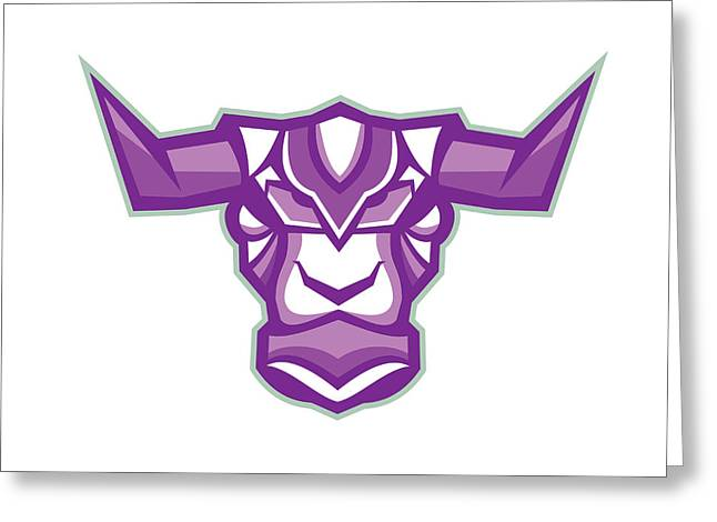 Robot Yak Bull Head Front Greeting Card