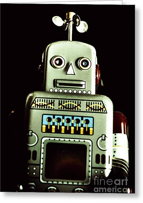 Robotic Spaceman Greeting Card by Jorgo Photography - Wall Art Gallery