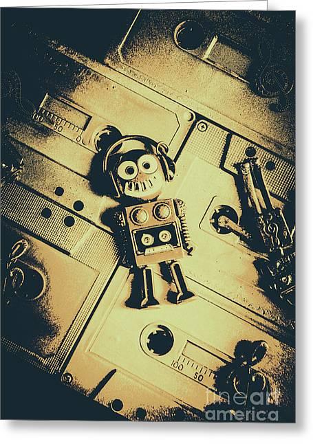 Robotic Trance Greeting Card