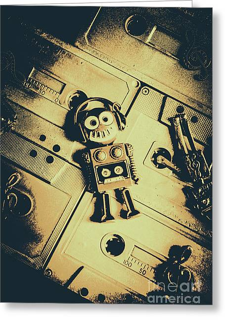 Robotic Trance Greeting Card by Jorgo Photography - Wall Art Gallery
