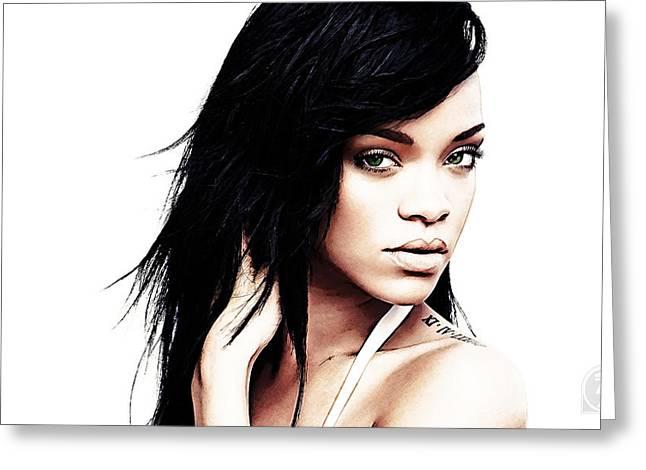 Robyn Rihanna Fenty Greeting Card by The DigArtisT