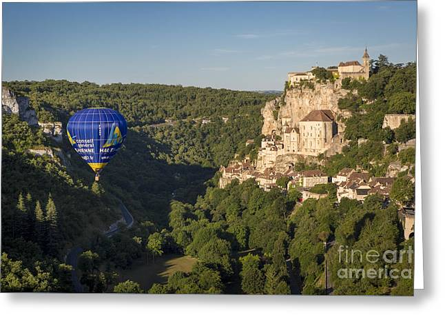 Historic Home Greeting Cards - Rocamadour - Lot Valley Greeting Card by Brian Jannsen