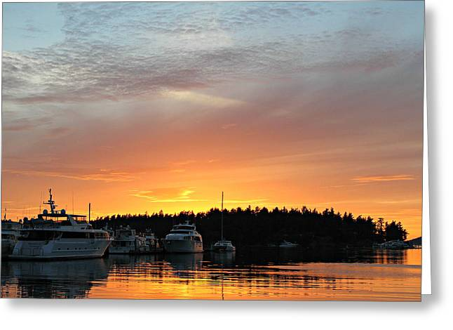 Roche Harbor Sunset Greeting Card